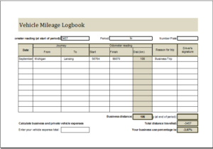 Vehicle Mileage Logbook Download At HttpWwwTemplateinnCom