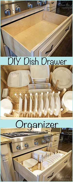 How To - Dish Drawer Organizer • Queen Bee of Honey Dos