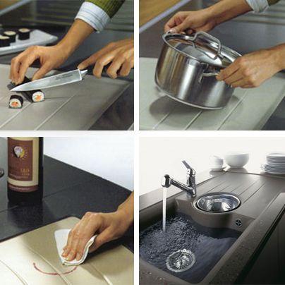 Los fregaderos de granito de la marca alemana SCHOCK son a prueba de todo uso.