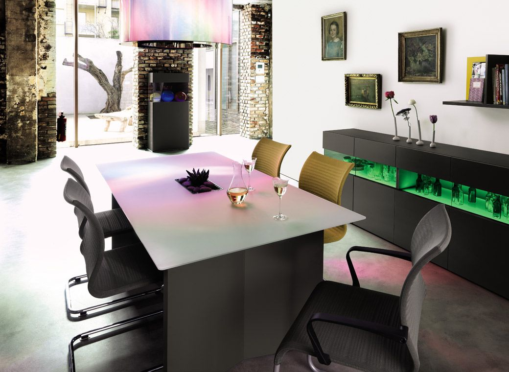 Tisch Mit Blumentopf Et 15 Von Hülsta 75x180x100cm Ca
