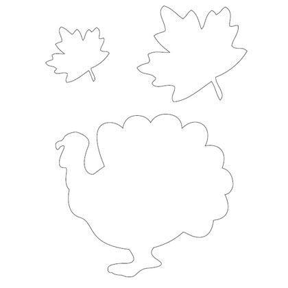 Turkey Template  Patterns For Thanksgiving  Spoonful  Holidays