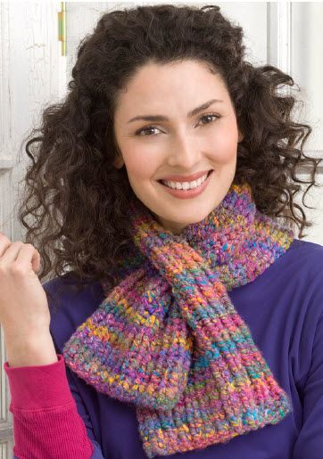 Red Heart Keyhole Knit Scarf Knit Pattern Moore Knit