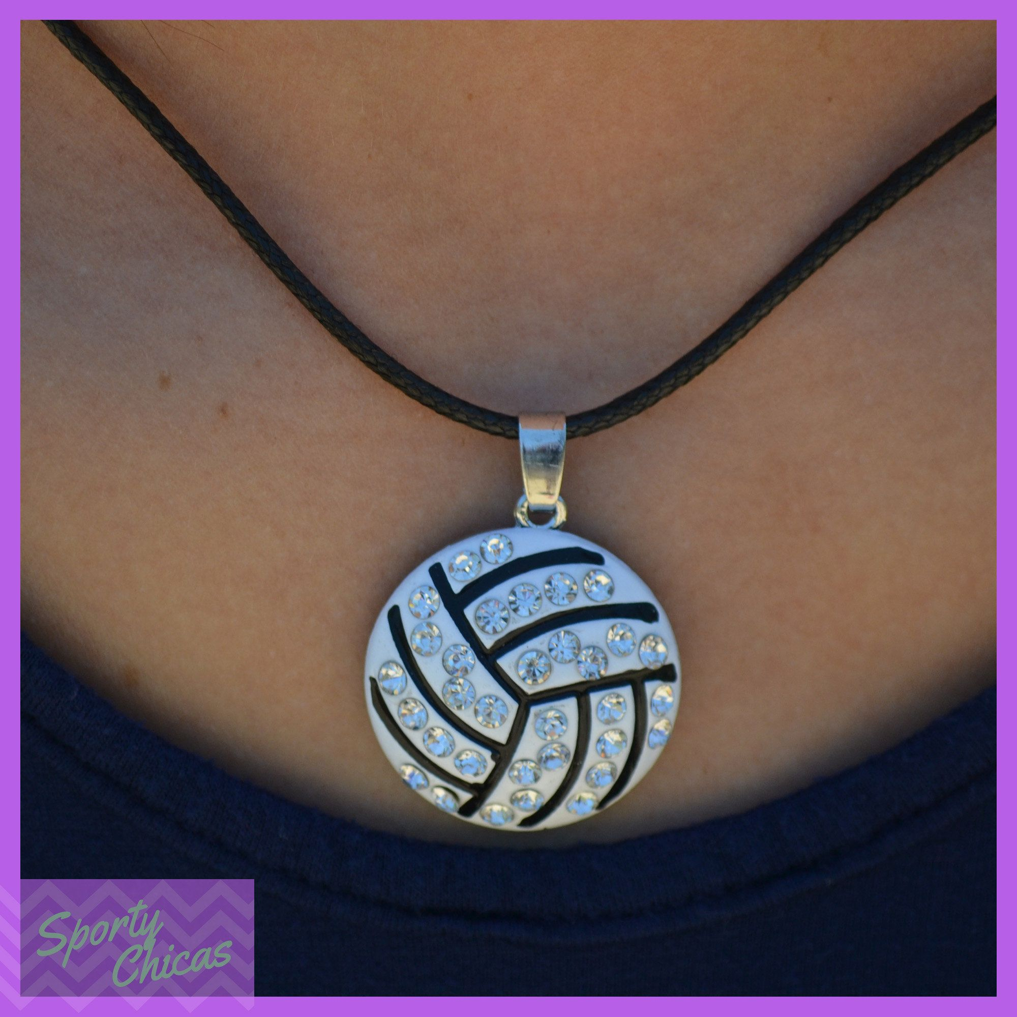 Volleyball Gift Girls Volleyball Jewelry Volleyball Team Gift Large Pendant Volleyball Necklac Volleyball Jewelry Volleyball Necklace Volleyball Team Gifts