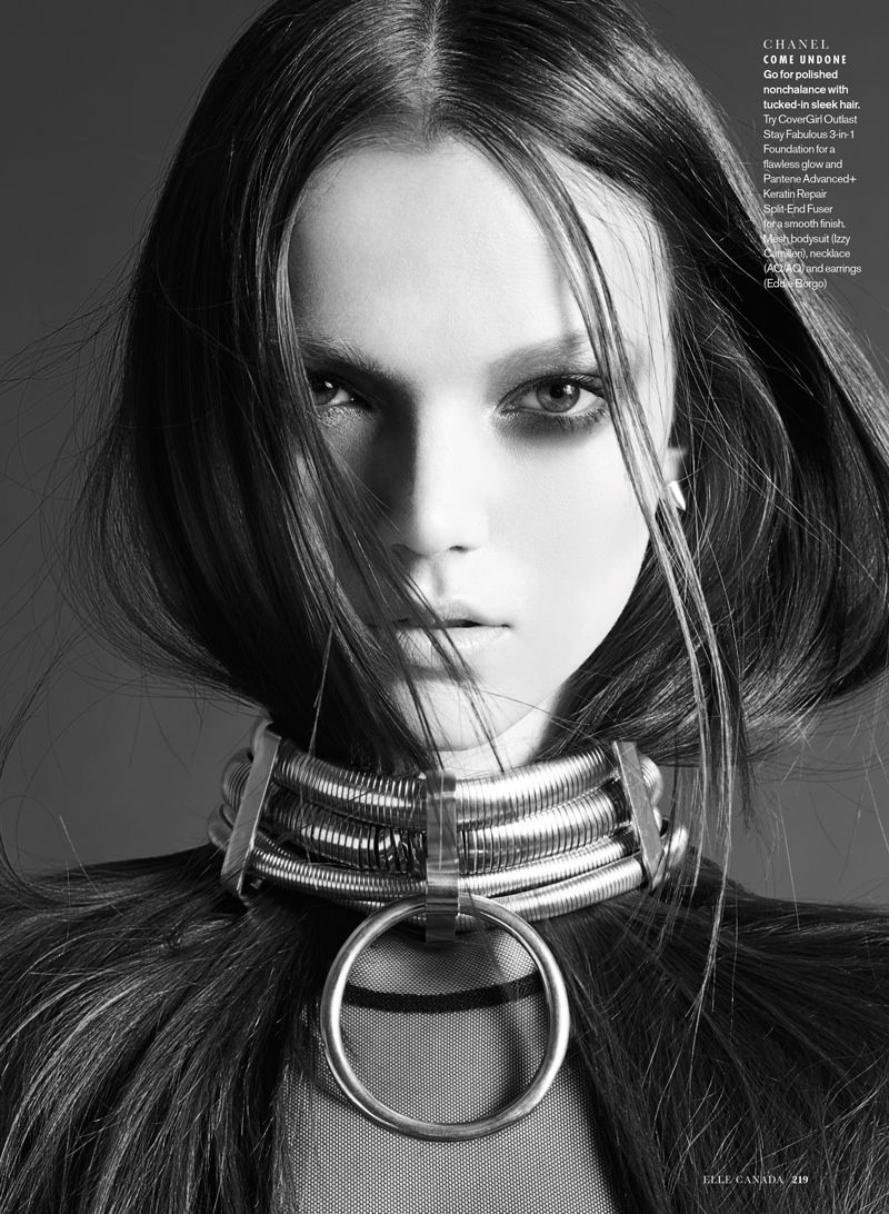 NW ♥ ♥ ♥ elle luxe punk3 Sam McKnight Creates Luxe Hair for Elle Canada Beauty Shoot