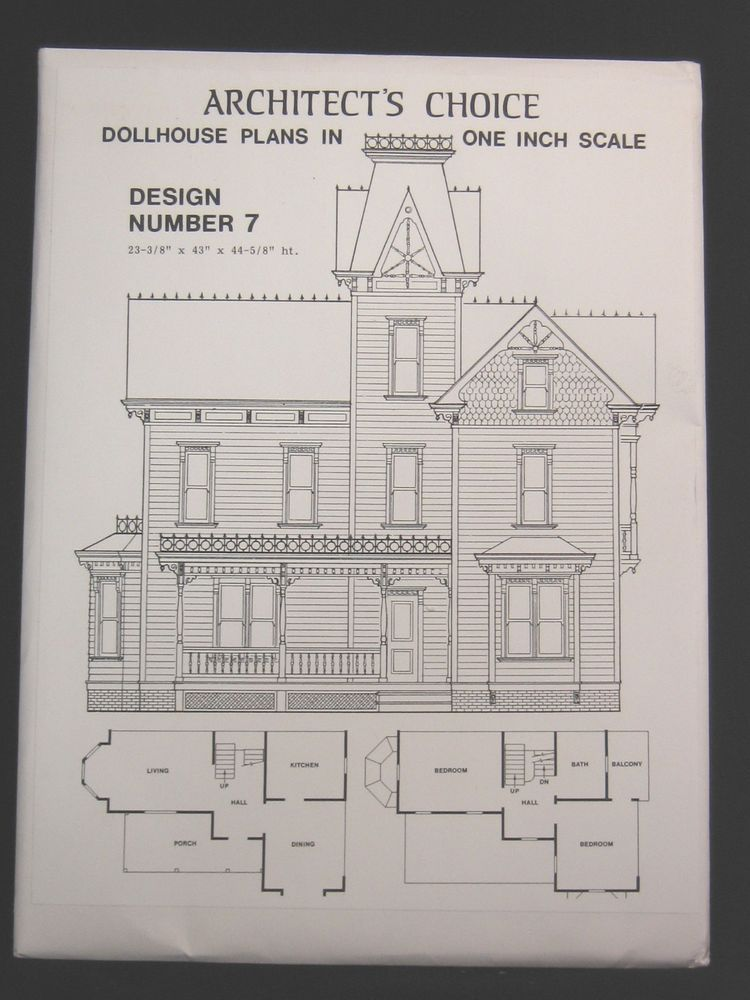 Dollhouse plans design 7 architect 39 s choice 1 12 scale for Victorian doll house plans