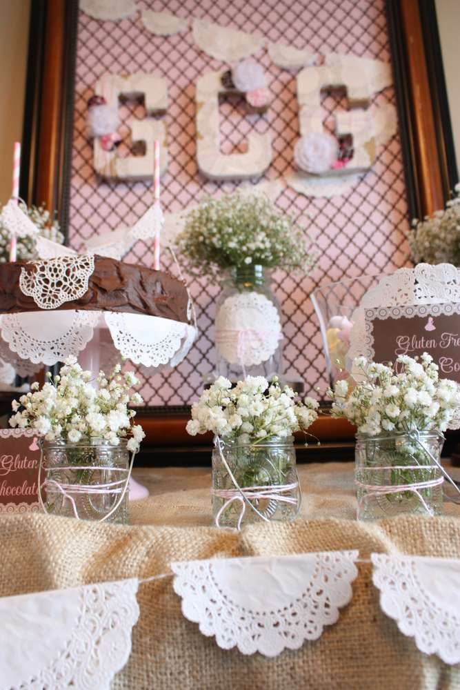Vintage Shabby Chic First Communion Party Ideas Pinterest
