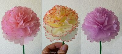 Making a Tissue Paper Flower Bouquet with Scallop Circle Nestabilities