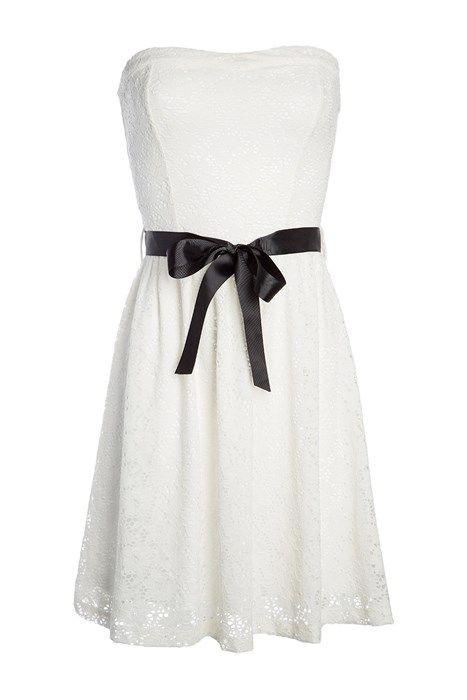 Robe noir et blanche cache cache
