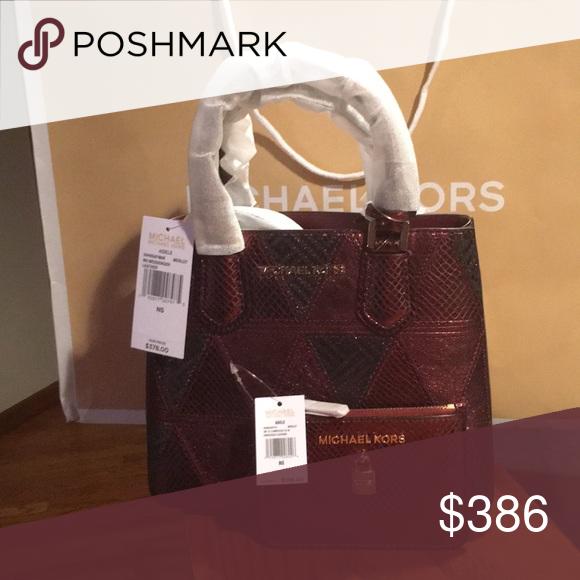 256bf0d3e6b9 MICHAEL KORS Purse and Wallet Bundle Michael Kors Adele Merlot Medium  Messenger and Small coinpouch MICHAEL Michael Kors Bags Mini Bags