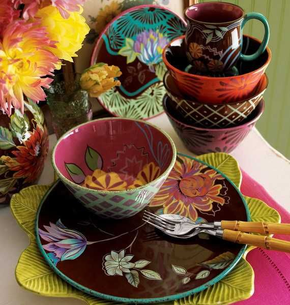 pics of modern DISHES | Colorful and whimsical modern tableware for stunning table decoration