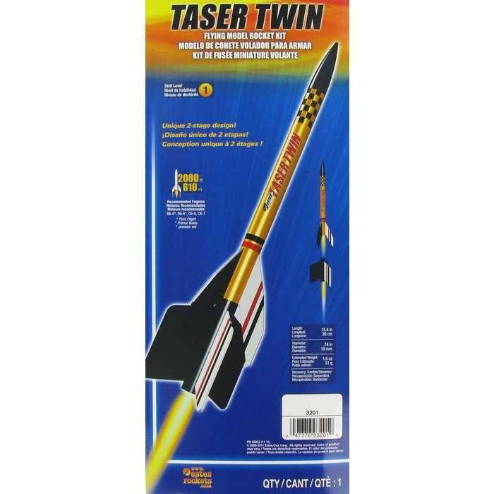Taser Twin Flying Model Rocket Kit   Rocket and jet engines
