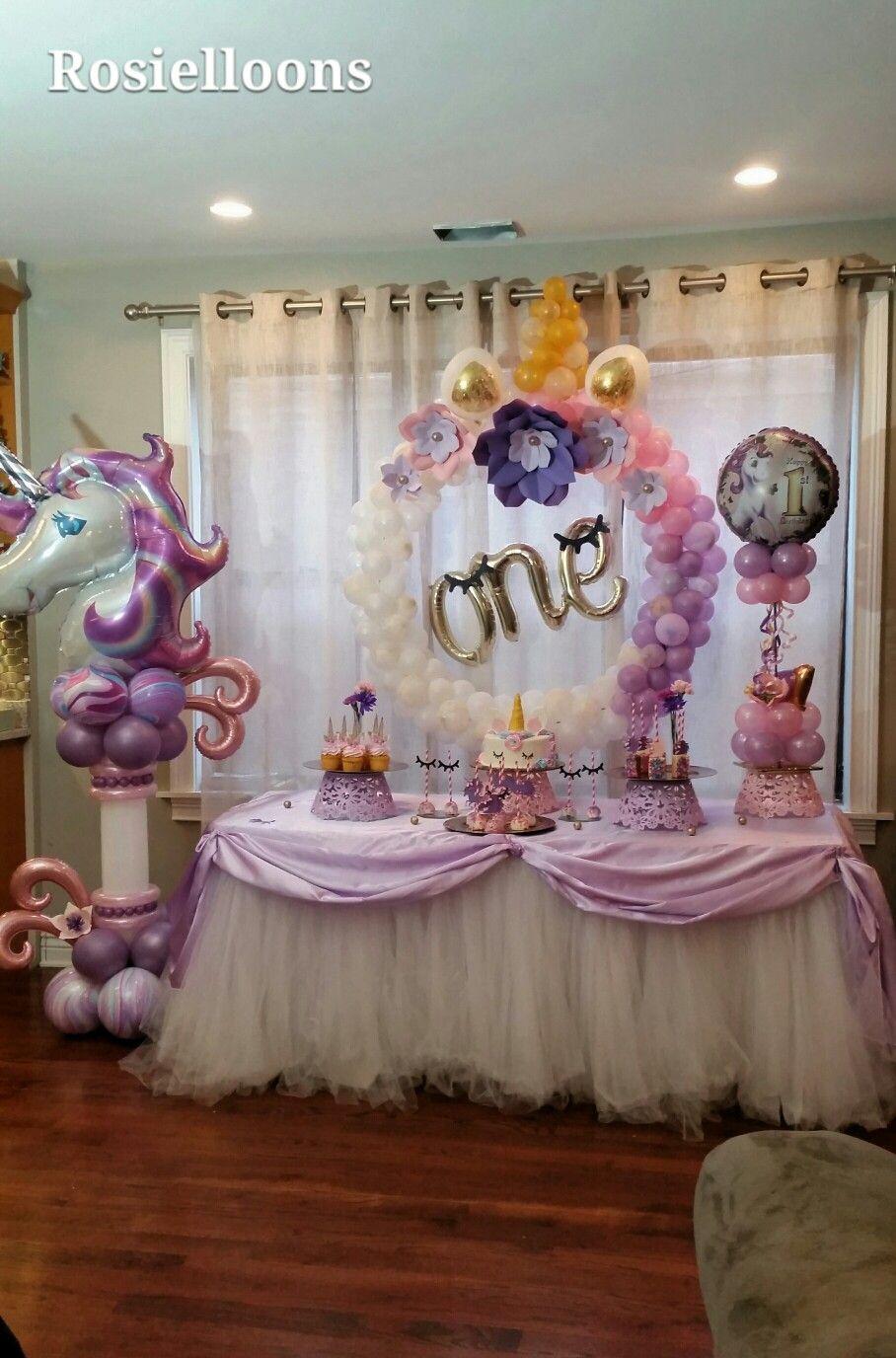 Cumpleanos de unicornio pinterest