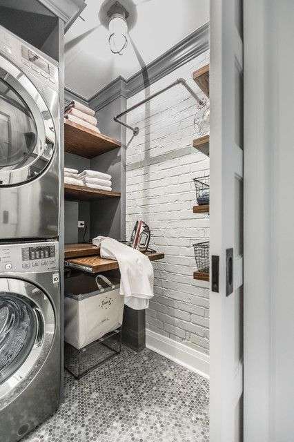 Industrial Chic Industrial Laundry Room Industrial Chic