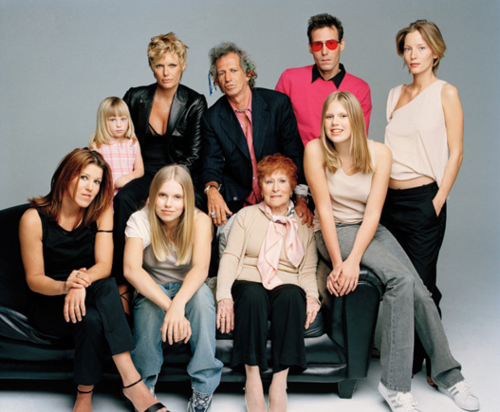 The Richards family by Patrick Demarchelier, in the 1990's ... Keith Richards Family