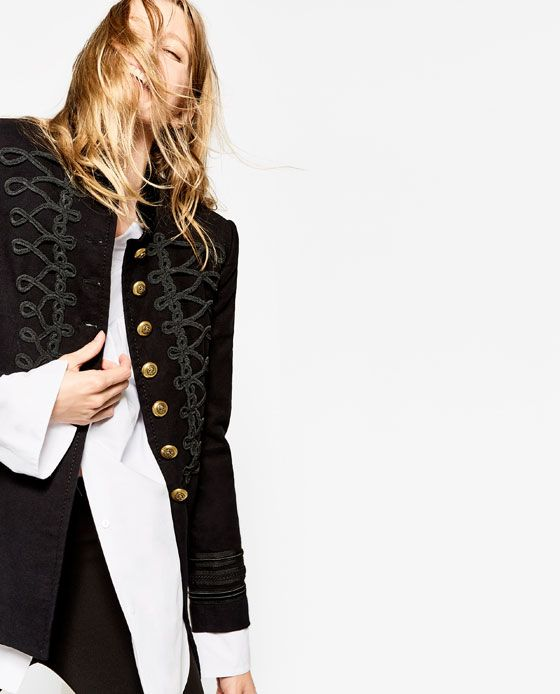 65a57d2e14 Image 6 of VELVET MILITARY JACKET from Zara | My Style | Military ...
