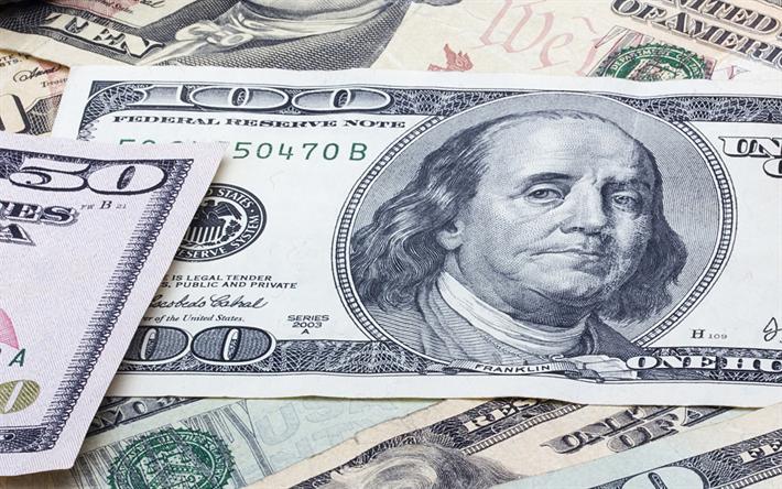 Download Wallpapers American Dollars Money Bills Banknotes 100 Dollars Besthqwallpapers Com Money Bill Bank Notes American Dollar
