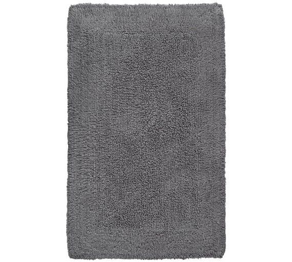 buy heart of house reversible bath mat charcoal grey at argoscouk