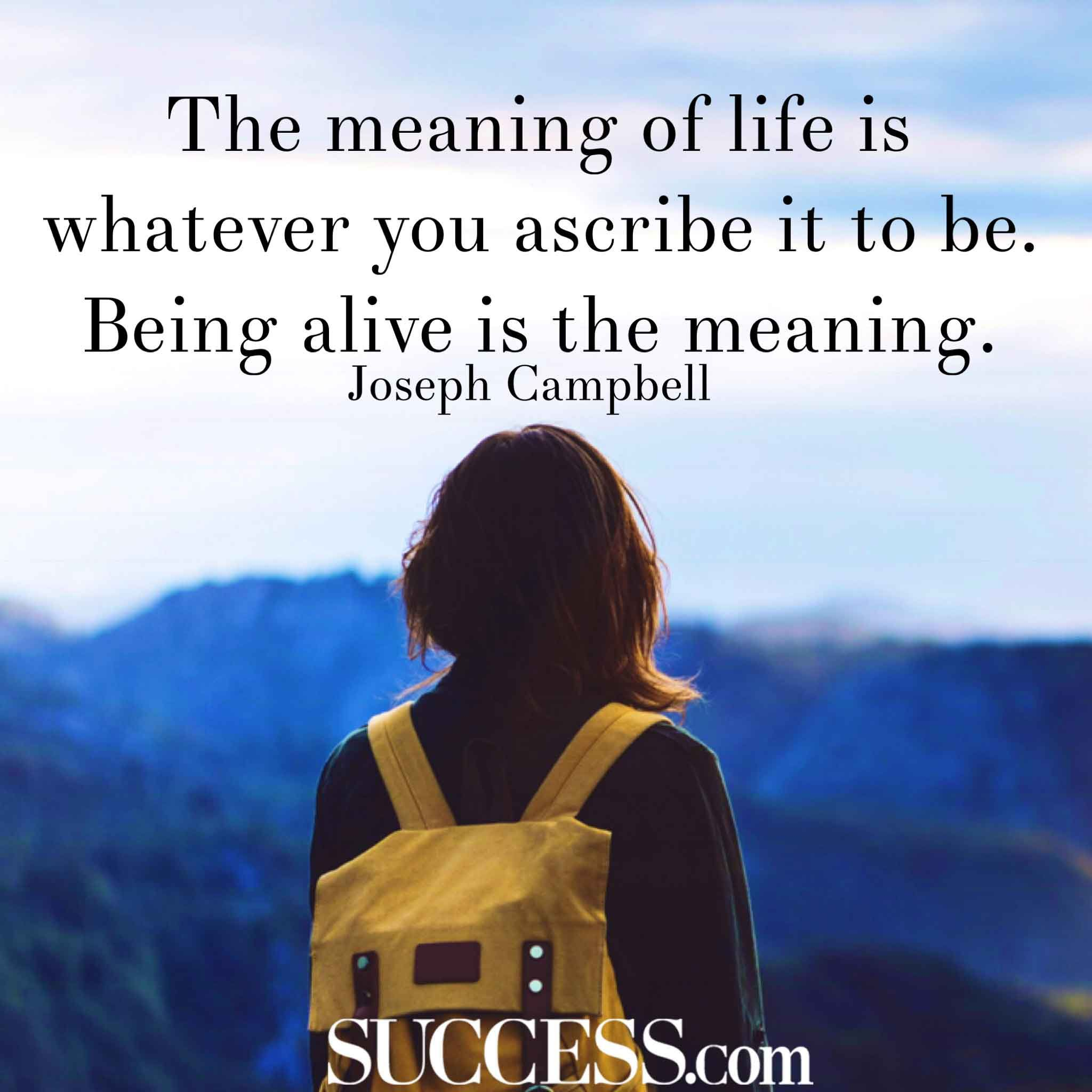 Meaning Of Life Quotes Extraordinary The Meaning Of Life In 15 Wise Quotes  Success  Self Help