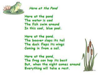 A Teacher S Touch Pond Life Theme Preschool Songs Preschool Poems