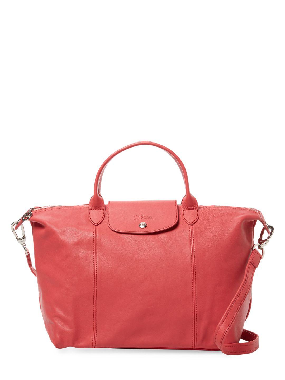 3b64445e2f6 LONGCHAMP WOMEN S LE PLIAGE CUIR MEDIUM TOTE - PINK.  longchamp  bags  shoulder  bags  hand bags  tote