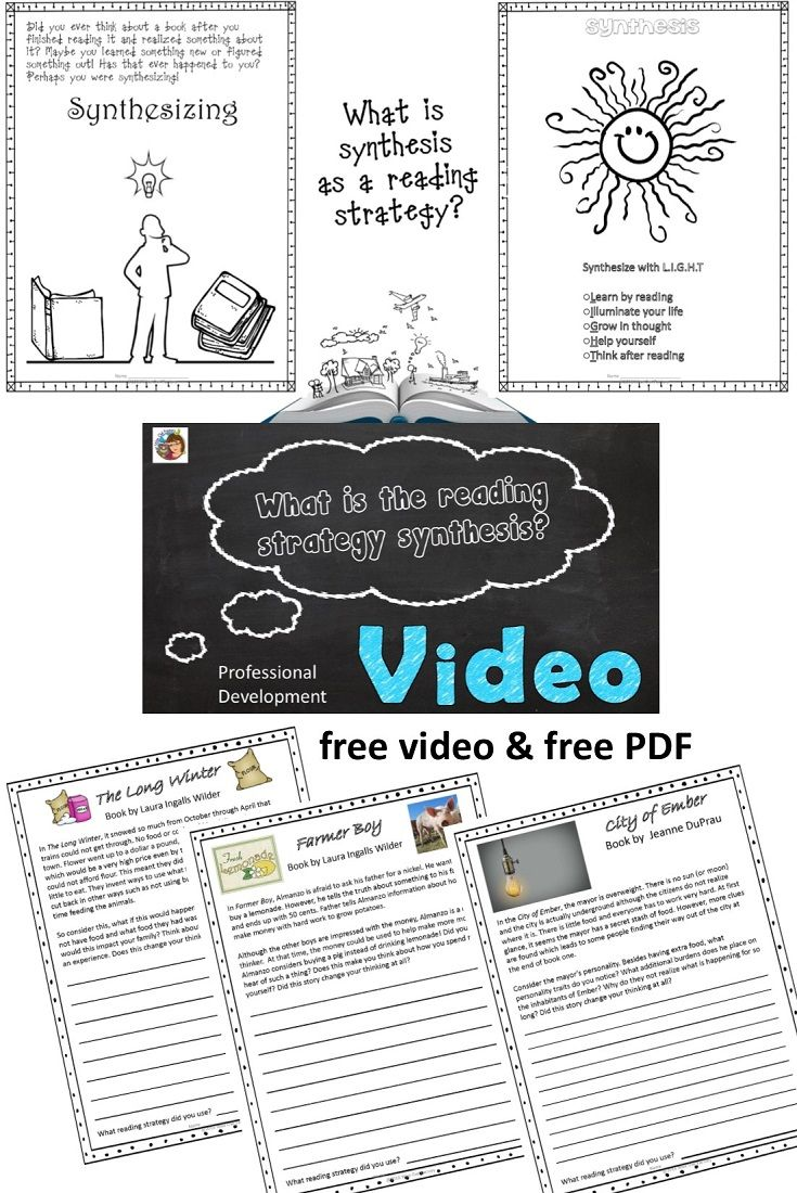 Synthesizing as a Reading Strategy PD Video and PDF   Reading strategies [ 1100 x 735 Pixel ]