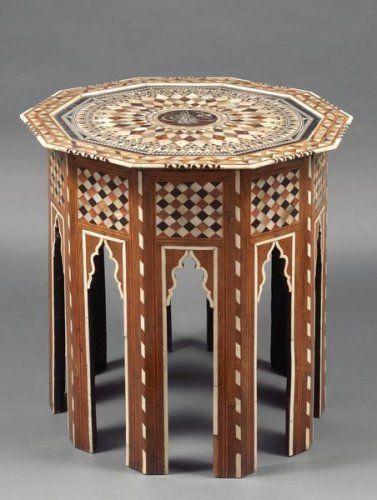 Lot Beau Gueridon Decagonal Ottoman Avec La Tughra Dans La Vente Arts D Orient A Tajan Gueridon Deco Maroc Ottoman
