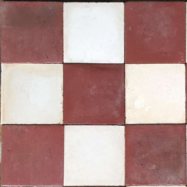 Carreaux De Ciment Anciens A Rouge Noir Et Blanc Dimension 20 20