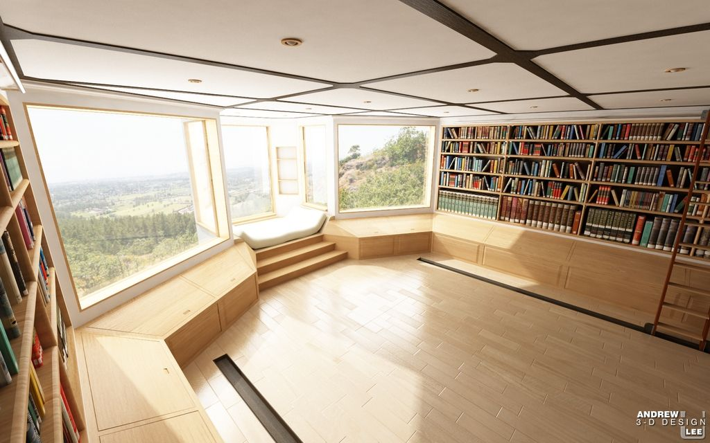 Can you imagine reading in that window seat overlooking the valleys below?