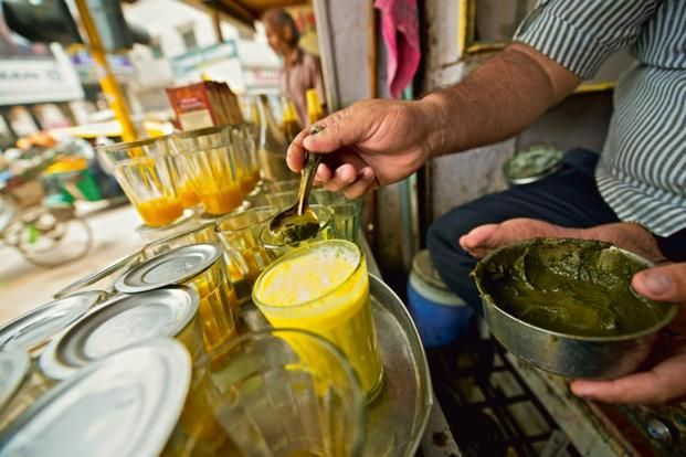 God food guide. It's always open season on the streets of #Varanasi. Shown above: 'Thandai', a cool drink laced with marijuana #Food #India #Travel #Benares