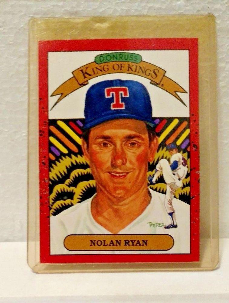1990 Donruss Nolan Ryan Texas Rangers Card 665 Baseball Card Error 659 Back Texasrangers Texas Rangers Baseball Cards Nolan Ryan