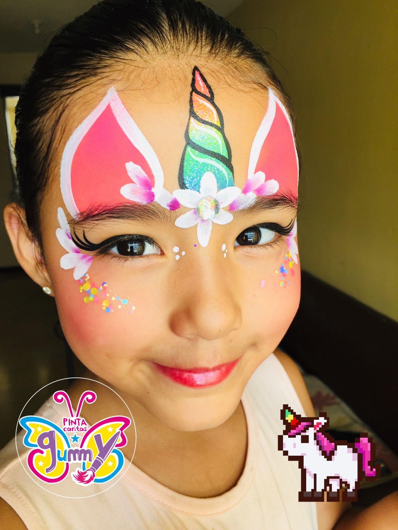 Simple Easy Unicorn Face Paint : simple, unicorn, paint, Heather, Crafty, Crafts, Painting, Unicorn,, Painting,, Halloween