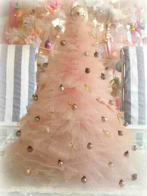 PINK christmas tree The most wonderful time of the year