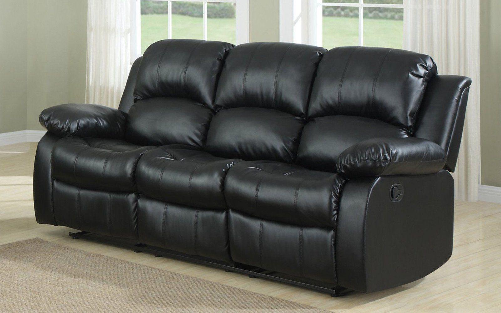 Bob Classic Bonded Leather Recliner Sofa Recliningsofa Reclining Sofa Leather Recliner