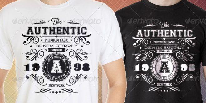 t Authentic shirts vintage