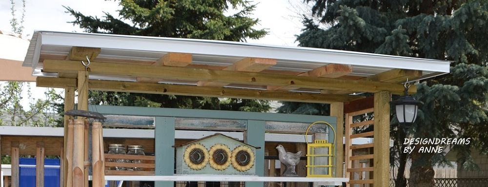 Building a greenhouse from old windows potting bench