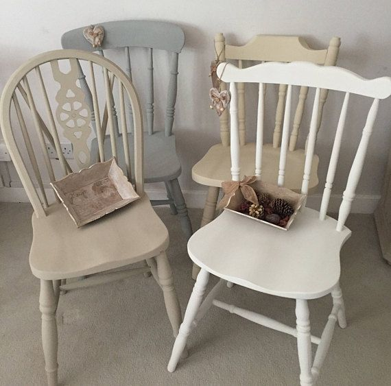 Painted Chairs Dining Room, Cherry Hill Furniture