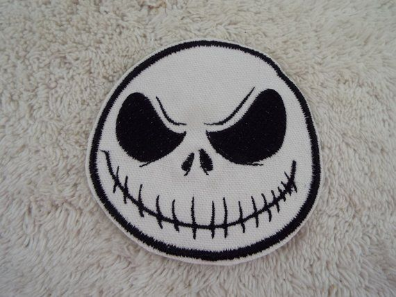 JACK SKELLINGTON Nightmare Before Christmas Iron on Patch Halloween Patches