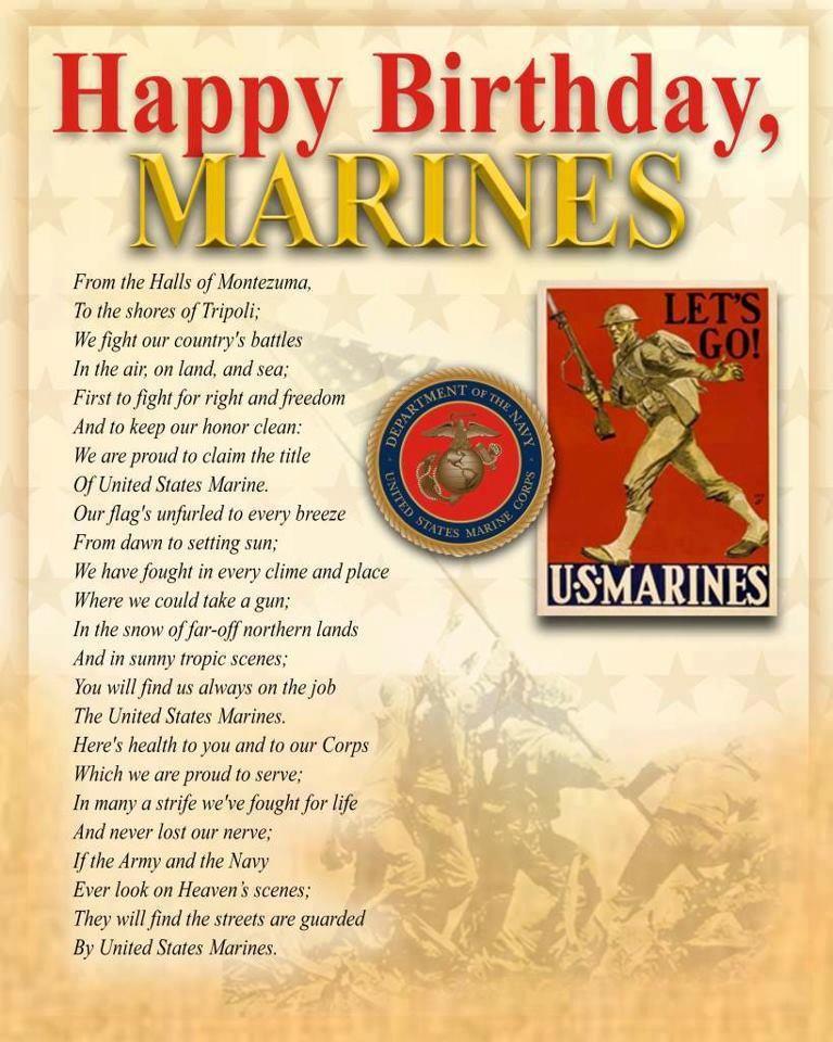 USMC Birthday 10 November 1775 Happy birthday marines