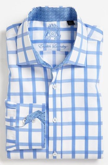 English Laundry Trim Fit Dress Shirt Nordstrom Mens Shirt
