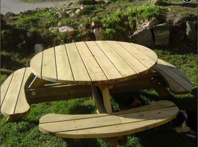 Table de pique-nique en bois autoclavé   petit bricolage sympa ...