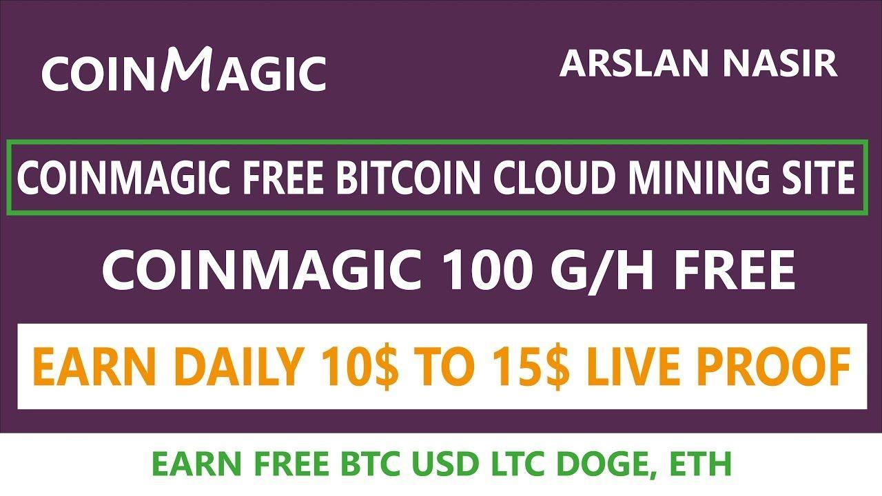 Coinmagic cc New Free Bitcoin Cloud Mining Site 100 G/H Free
