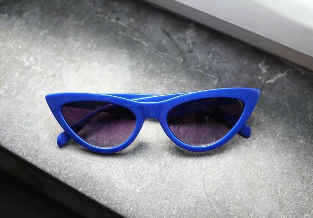 official photos a2084 e7439 Vintage Cat-Eye Herren Damen Sonnenbrille Blau   Retro 60er Jahre 60s Style    Cat