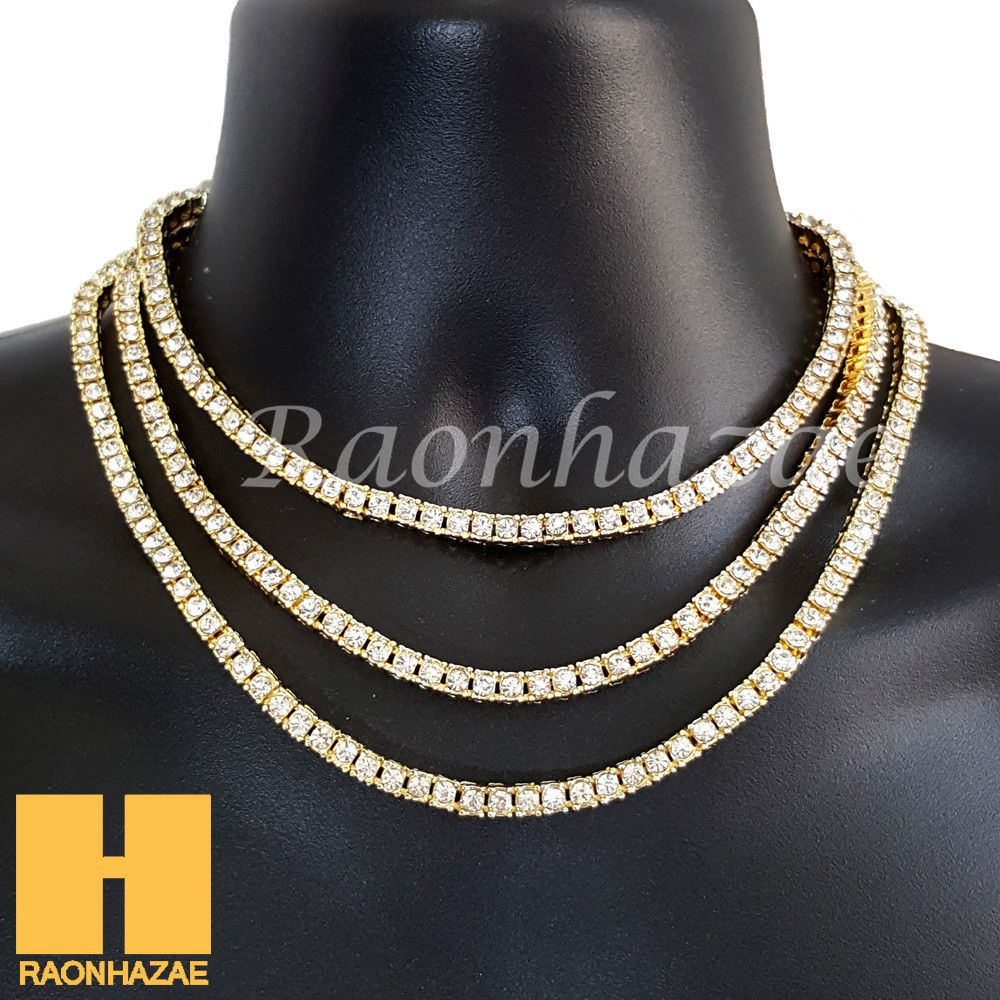 "a317fab0af8749 Stone: Lab Diamond. Chain: 4.5mm 16"" 18"" or ..."