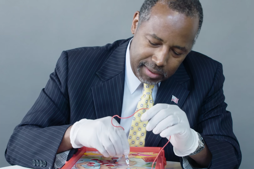 Dr. Ben Carson plays Operation in new video Health and