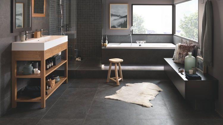 Vintage style bathroom - wood vanity sink - Schmidt Bathroom
