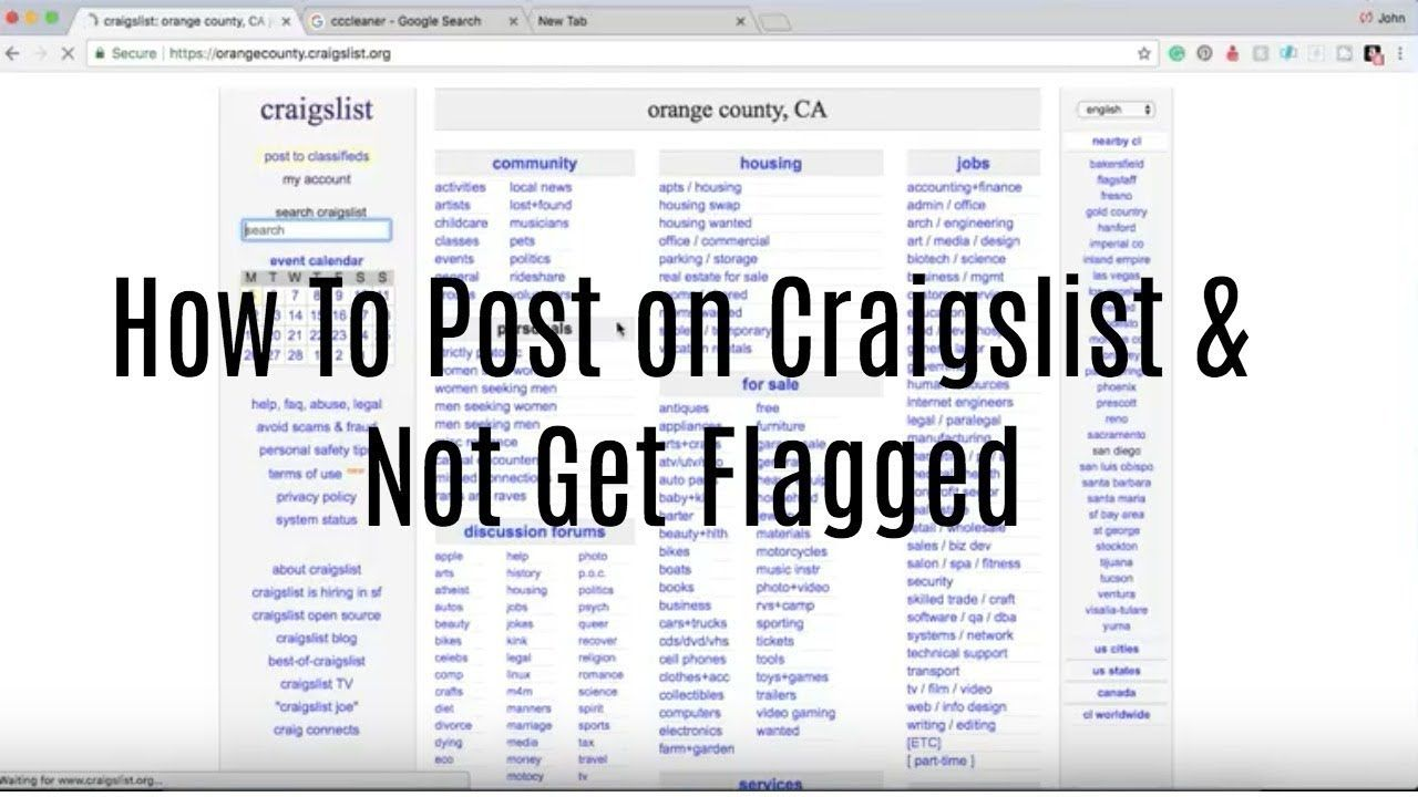 How To Post On Craigslist Not Get Flagged Craigslist Post Ad Housing Jobs