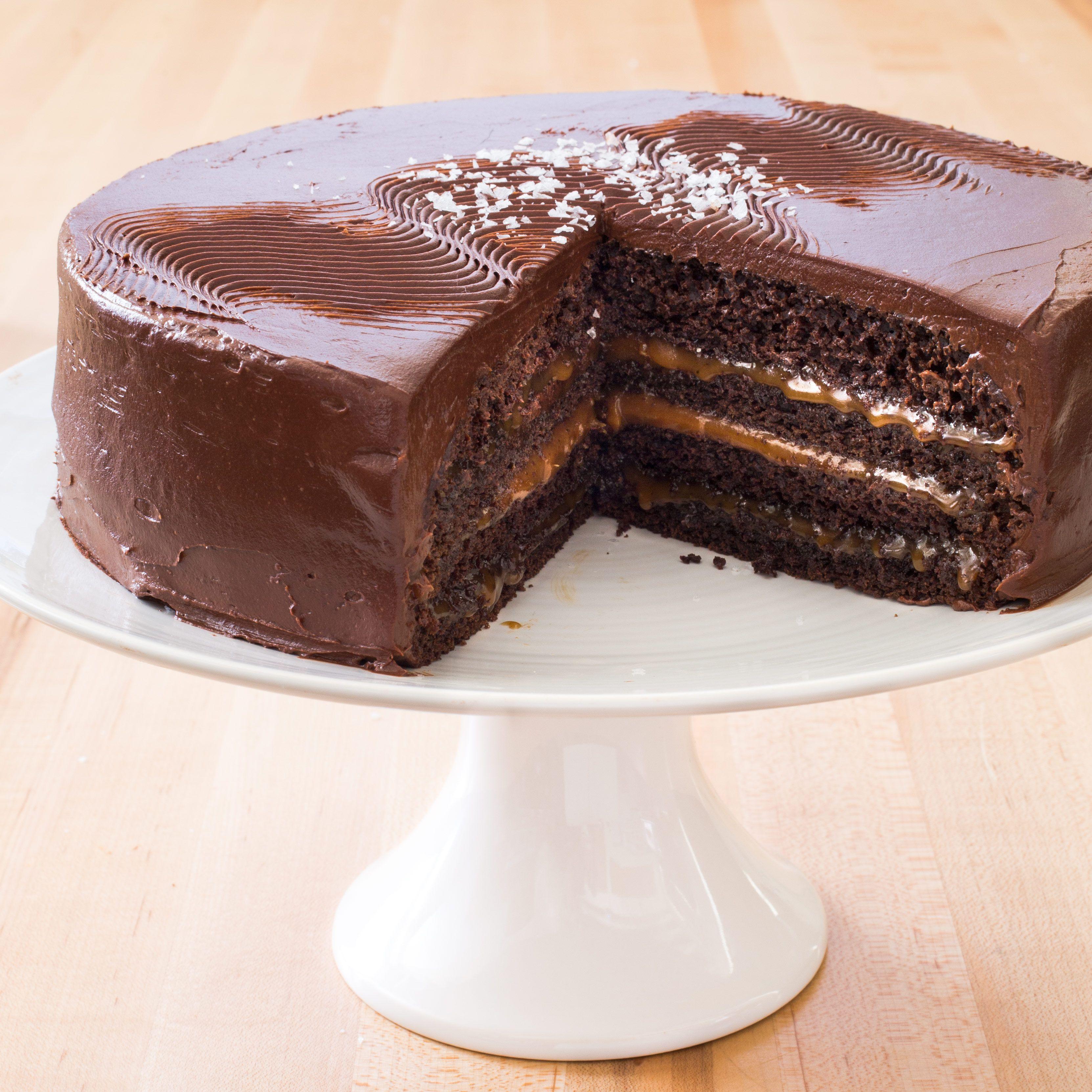 Chocolate Caramel Layer Cake Recipe Cook s Illustrated