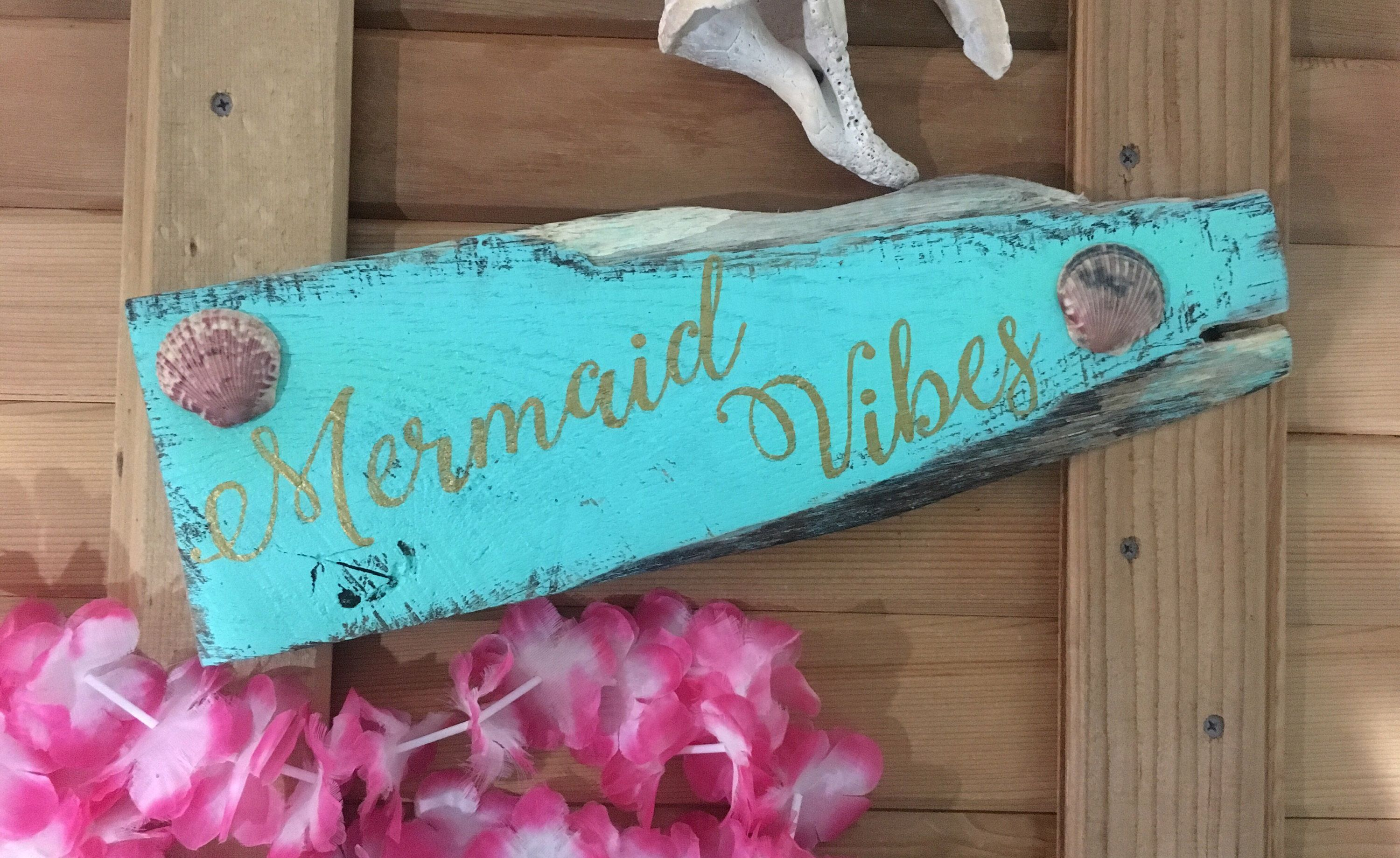 Mermaid vibes pallet sign from my etsy shop sy