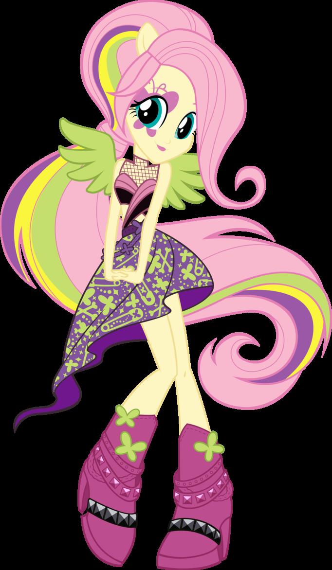 Equestria Girls Rainbow Rocks Fluttershy Vector By Icantunloveyou