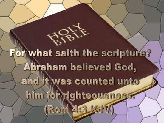 Image result for ROMANS 4:3 IMAGE